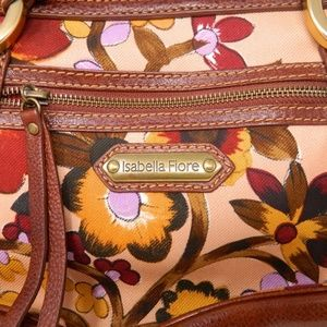 4056202df0 Isabella Fiore Bags - Isabella Fiore Purse Handbag Brown Purple Orange